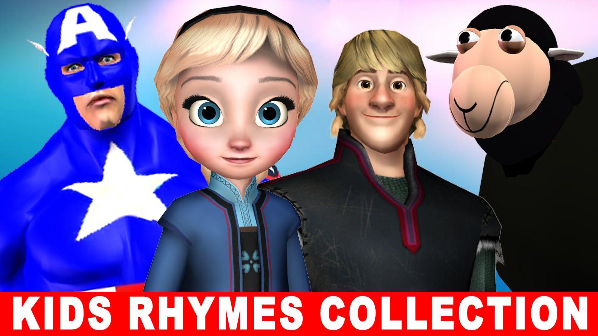 Captain America,Batman,Ironman,Frozen Elsa - Cartoon Nursery Rhymes Coll...
