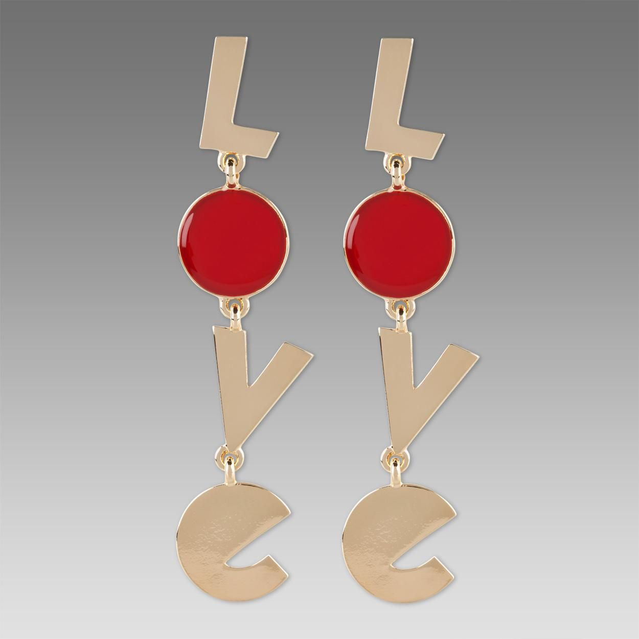 Paul Smith Jewellery Gold Love Earrings