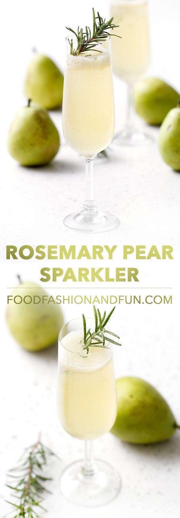 Photo of Rosemary pear champagne cocktail – cocktails blog