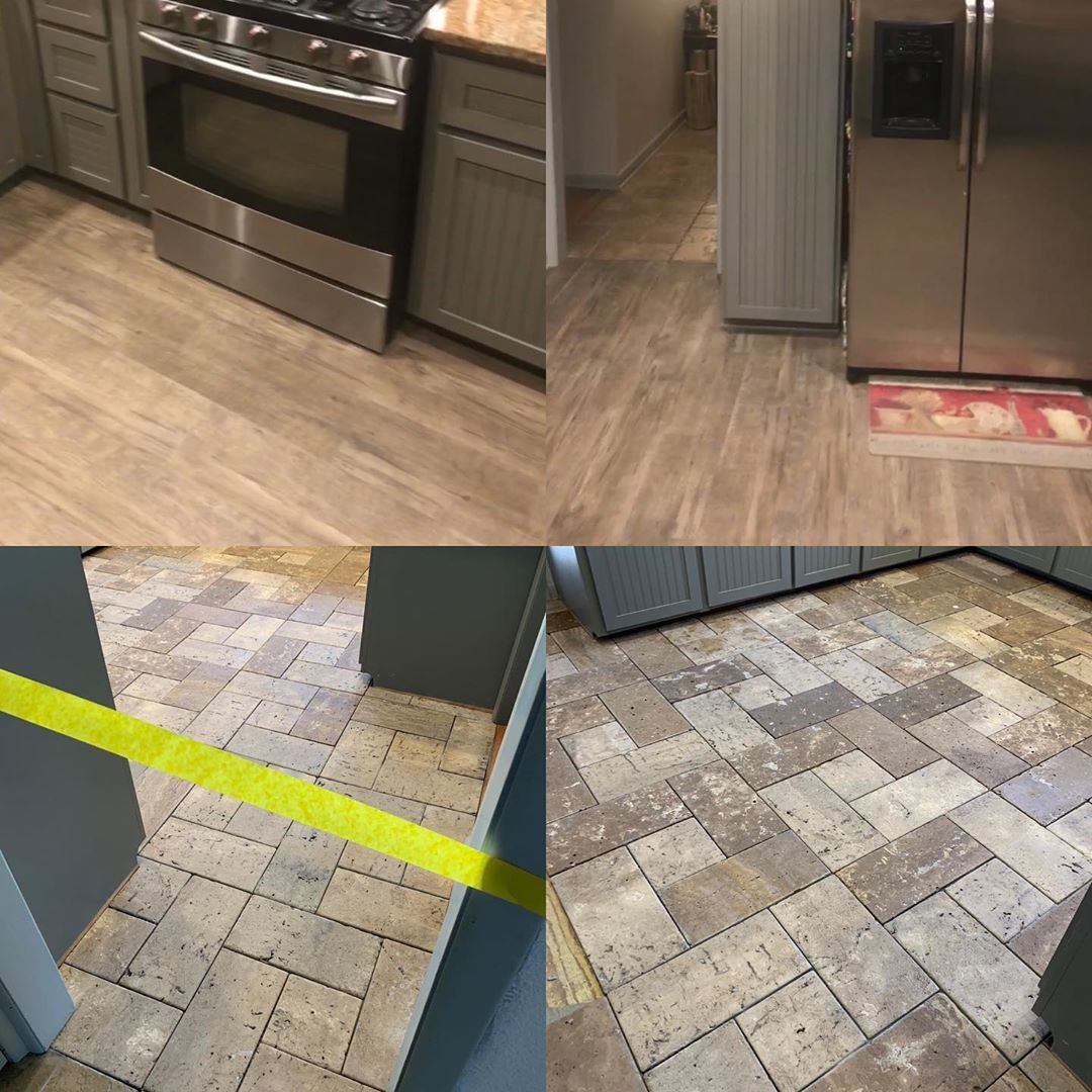 Watch The Best Youtube Videos Online On Top Is The Temporary Floor We Put Down About A Year Ago On Temporary Flooring Kitchen Inspirations Kitchen Remodel