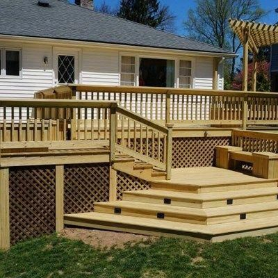 Best Beautifully Designed Pressure Treated Deck In Chatham New 400 x 300