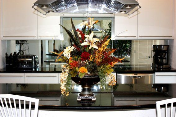 floral centerpieces for dining tables | Custom Made Large Dining Table Centerpiece by Patique Floral ...