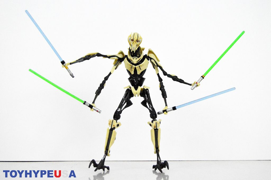 Hasbro Star Wars The Black Series 6 General Grievous Figure Review Star Wars Black Series Hasbro