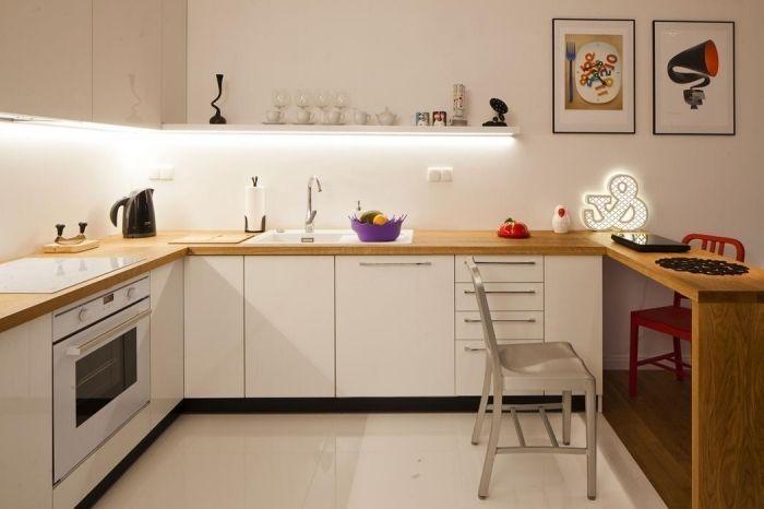 Idée relooking cuisine \u2013 modèle de design intérieur moderne aux murs