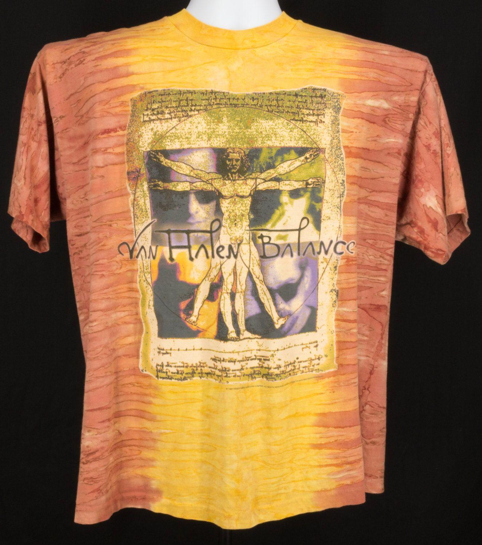 Vintage 1995 Van Halen Balance Tour T Shirt Tye Dye Concert Shirt Xl Rock Band Tee Concert Shirts Rock Band Tees Tour T Shirts
