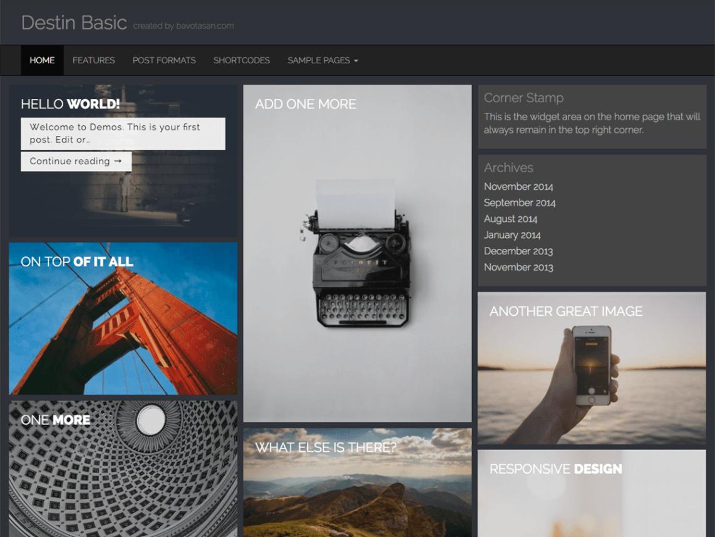 Destin Basic — Free WordPress Themes | WordPress themes | Pinterest ...