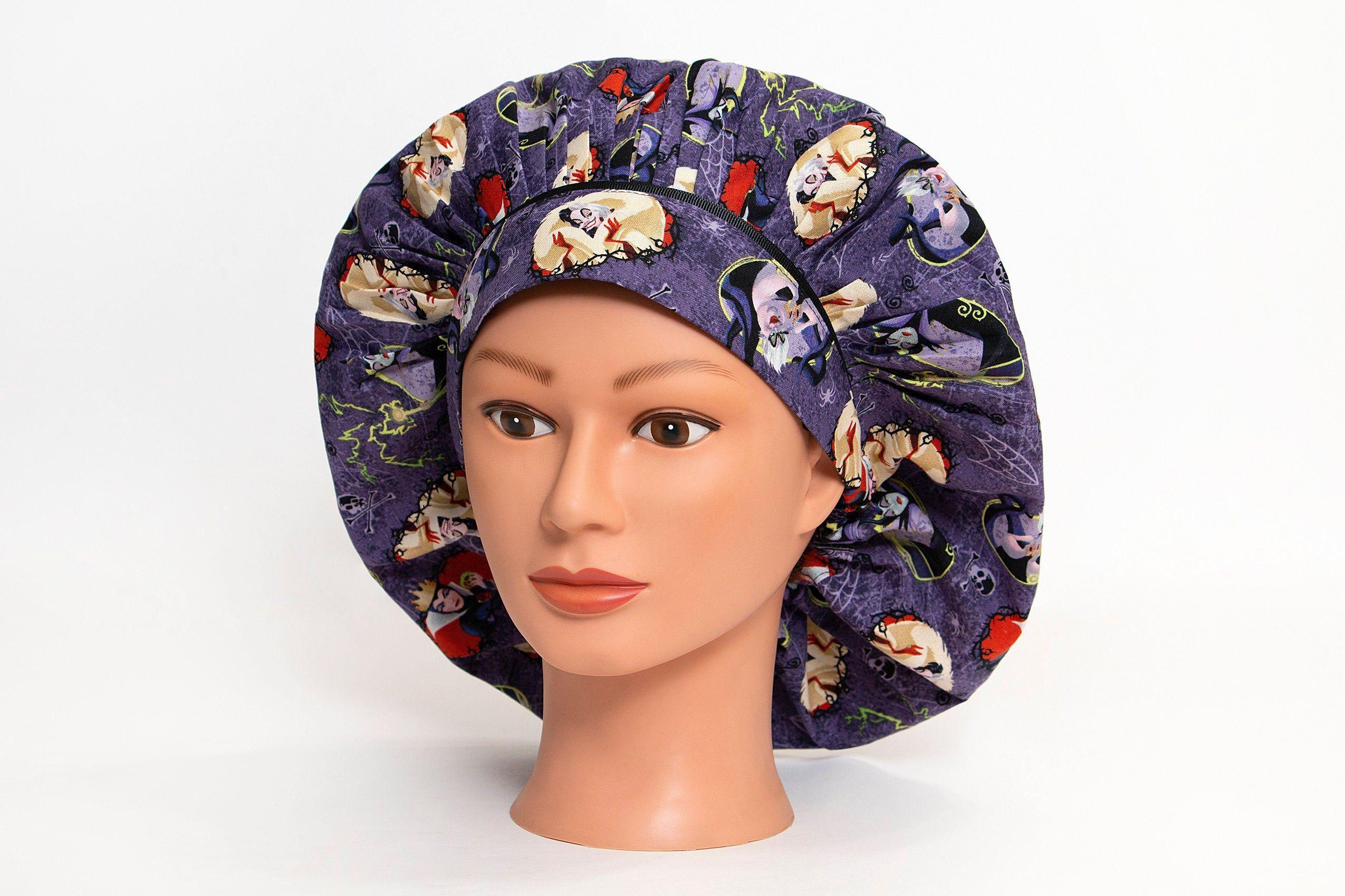 Scrub hat black Scrub Cap Surgical cap Surgical Hat Hawaiian Womens Bouffant Surgical Scrub Hat Surgeon Hat Bouffant scrub hats