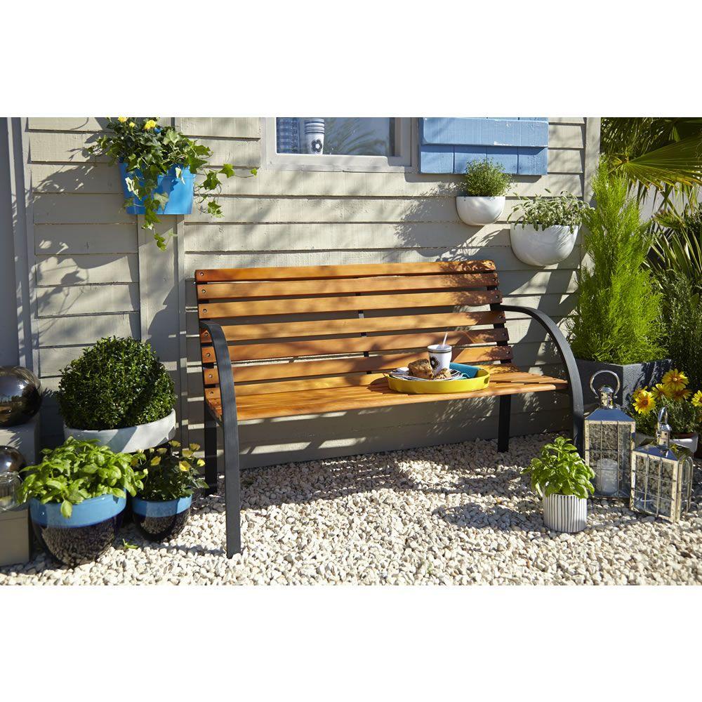 Wilko Garden Furniture Wooden Park Bench Fsc Garden
