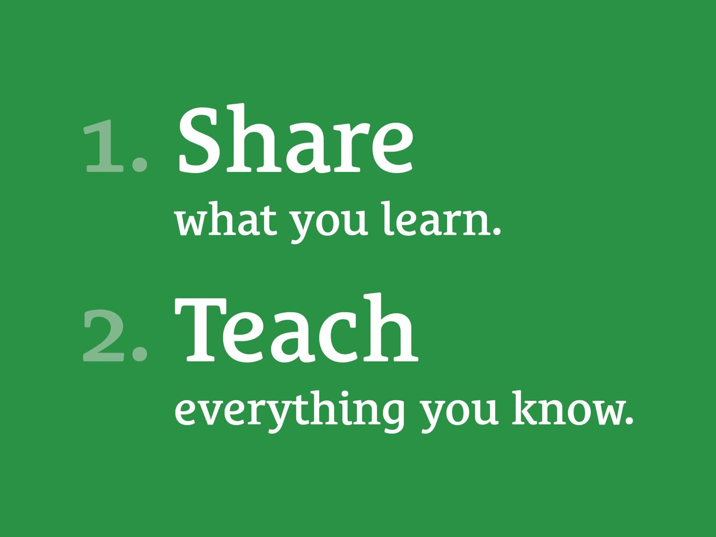 share-what-you-learn