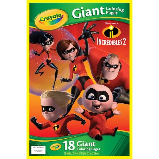 Crayola Giant Coloring Pages Incredibles 2 In 2021 Coloring Pages Colouring Pages Crayola