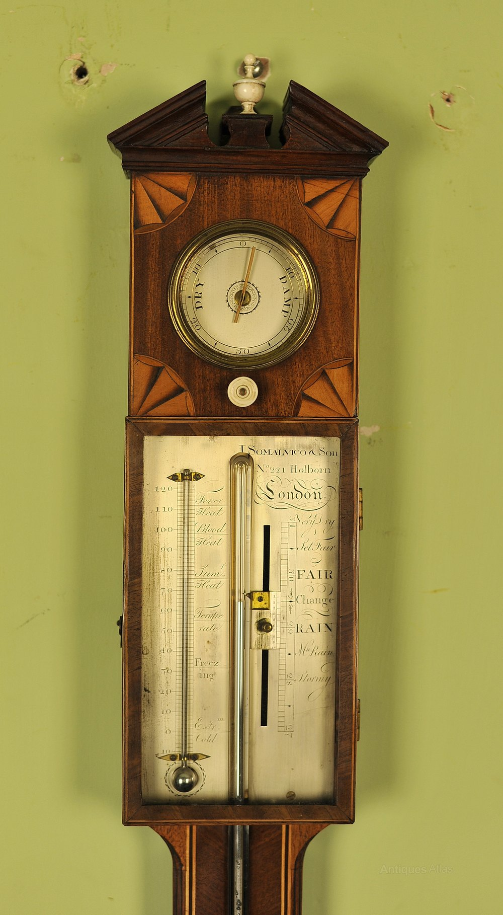 Hot Wall Weather Station Barometer Thermometer Hygrometer Sheraton Style