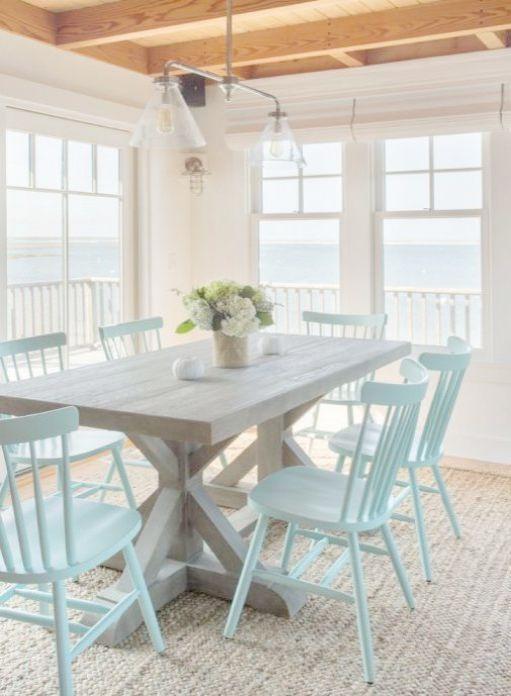 Coastal Cottage Decorating Blogs Beach, Beach Dining Room Table