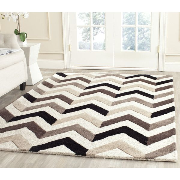 safavieh cambridge ivory black chevron area rug reviews