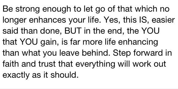 Step forward in faith