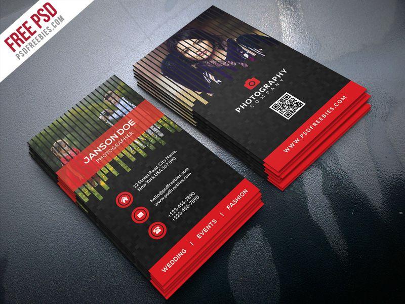 Professional Photographer Business Card PSD Bundle | Business card ...