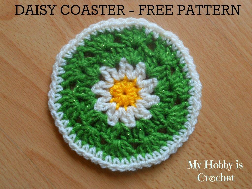 Daisy coaster free crochet pattern crochetandknit pinterest crochet daisyflower coaster free pattern with photo tutorial izmirmasajfo Choice Image