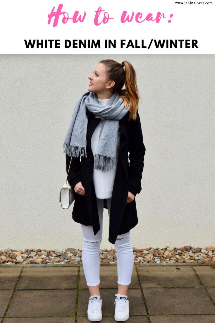 How To So Trägst Du Weiße Jeans Im Herbst Winter Fashion