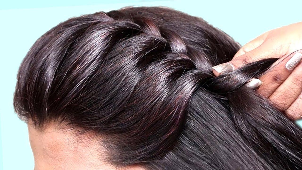 2 Quick Easy Juda Hairstyles For Everyday Use Simple Hairstyles For Medium Hair New Juda Ha Easy Hairstyles Very Easy Hairstyles Medium Hair Styles