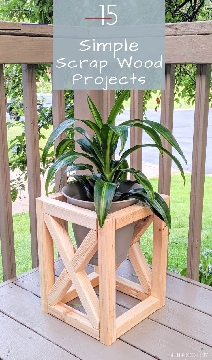 15 quick scrap wood projects wood clear out your on easy diy woodworking projects to decor your home kinds of wooden planters id=61578