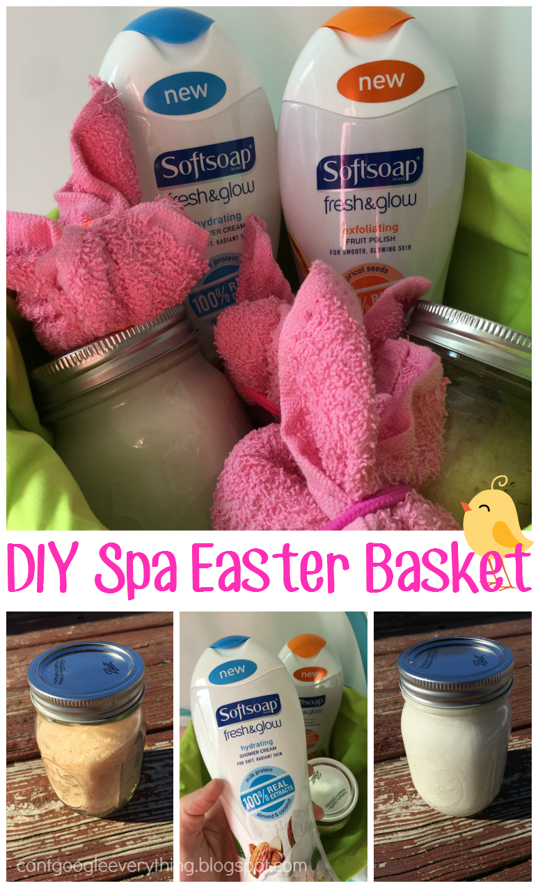 Spa Easter Basket With Softsoap Fresh And Glow Perfect Gift For A Girlfriend Sister Mom Etc