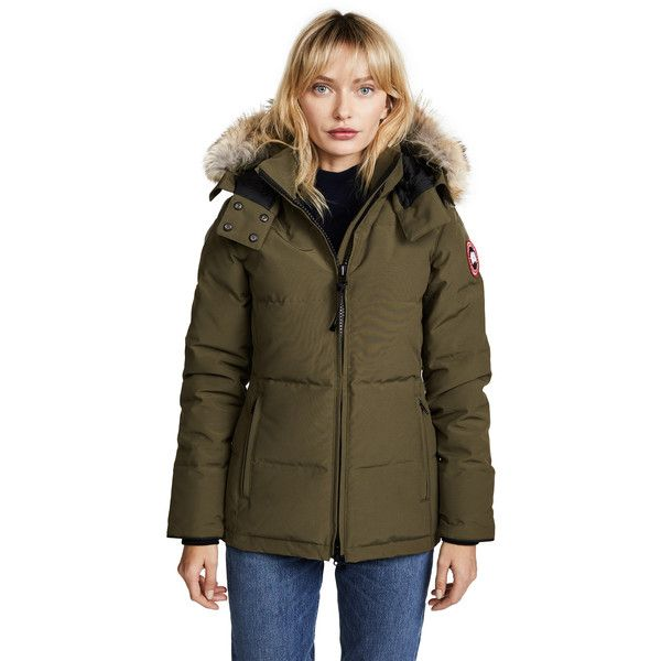 7951ea39e47b Canada Goose Chelsea Parka (855 CAD) ❤ liked on Polyvore featuring  outerwear