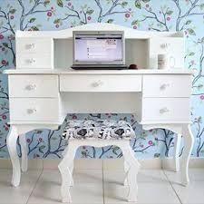 Escrivaninha-penteadeira 4 gavetas branca
