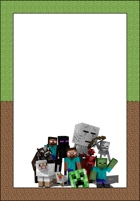 Free Printable Minecraft Invitations Cards Or Labels