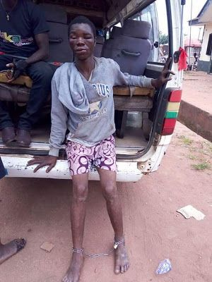 Members of Agbor Gha Ihun security outfit led by its Deputy Leader, Mr  Monday Kiyem on Wednesday, nabbed a man for stealing an .
