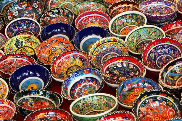 Colorful Turkish Bowls by Vera Kratochvil