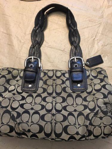 Black Coach Handbag/Purse-used https://t.co/v0DaiXyzFM https://t.co/FDXZGq8T1w