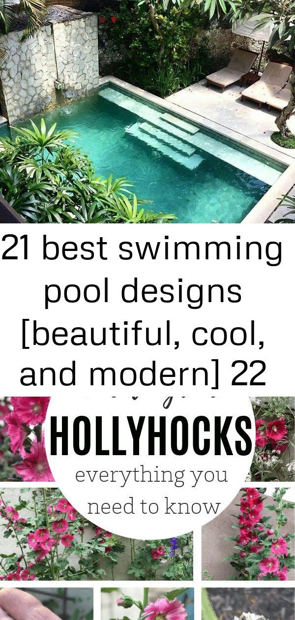 21 best swimming pool designs [beautiful, cool, and modern] 22 #smallcourtyardgardens