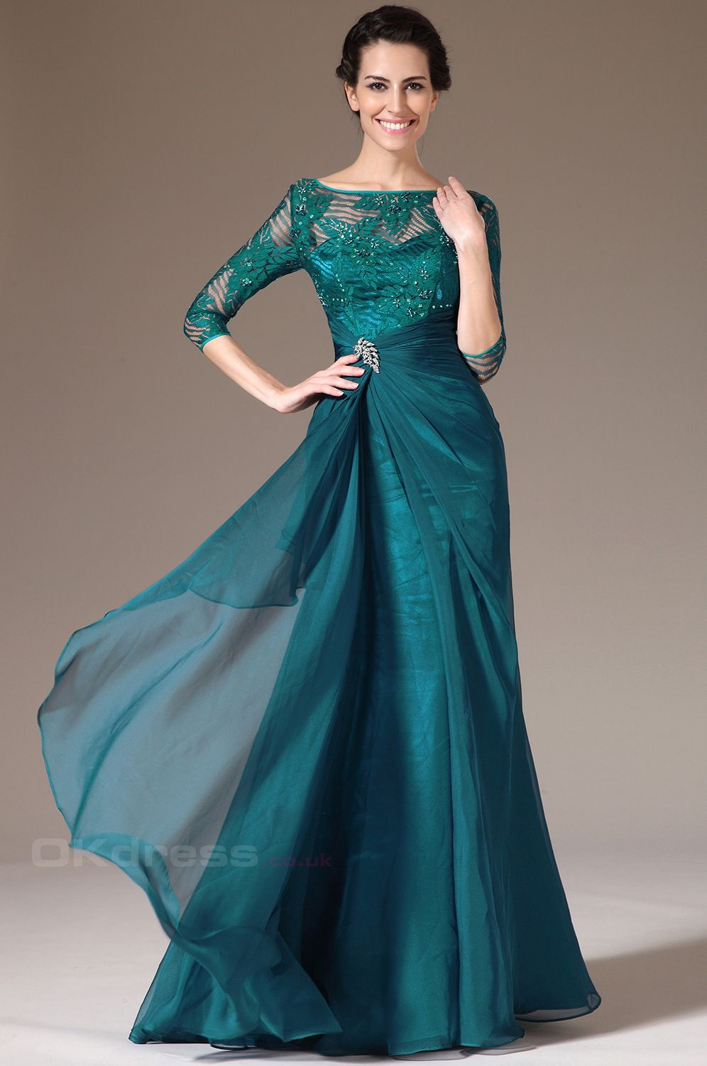 Image result for dark green evening gown | For Letty | Pinterest ...