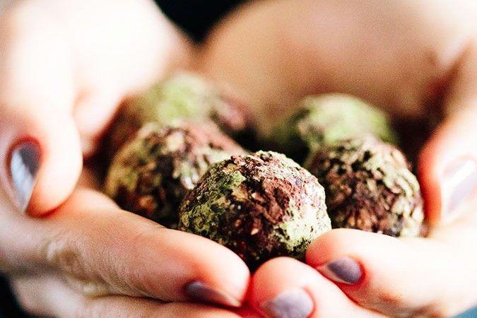 Photo of Detoxifying Matcha Green Tea Chocolate Balls
