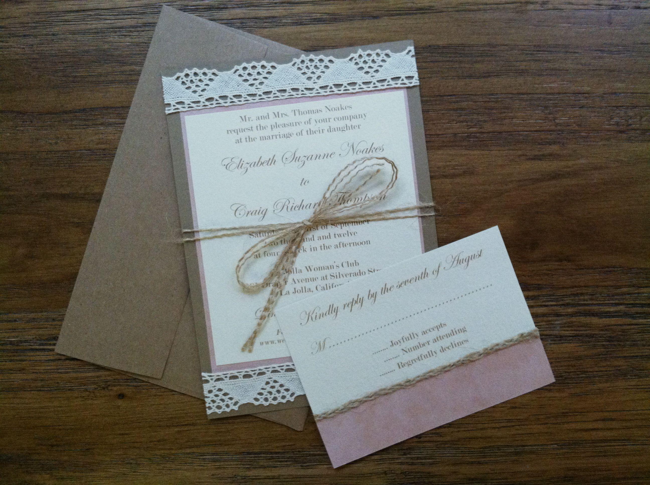 Craig loves Elizabeth!} Handmade wedding invitation suite | : PAPER ...