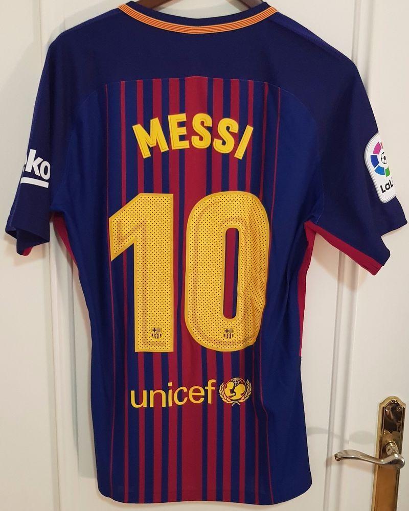8580d5a61 Messi Fc Barcelona La Liga LFP 2017-2018 match worn shirt