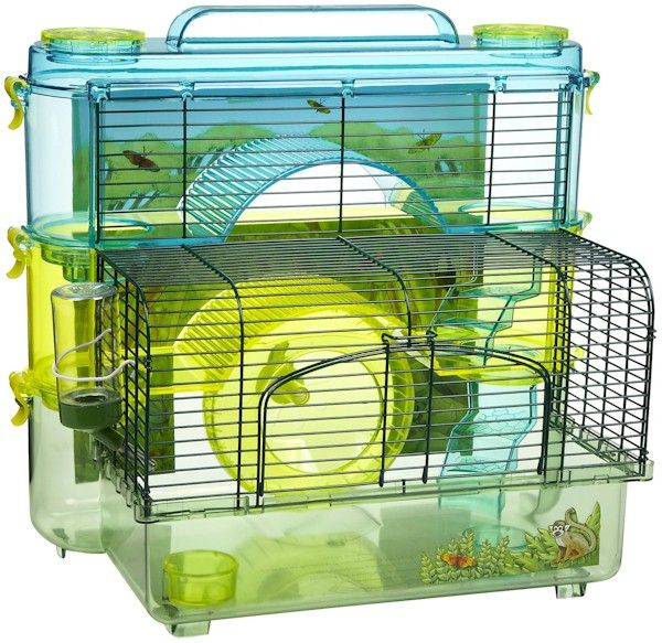 Rainforest Jungle Hamster Home 3 Story Upc 030172063534 With Images Hamster Cages For Sale Small Animal Cage Crittertrail Hamster Cage