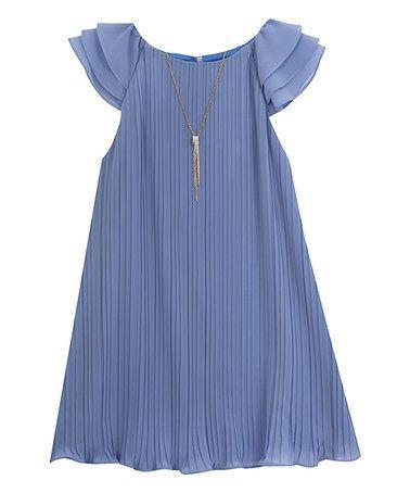 Periwinkle Chiffon Dress
