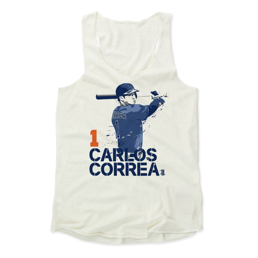 Carlos Correa Paint B Houston Officially Licensed MLBPA Womens Tank Top S-XL