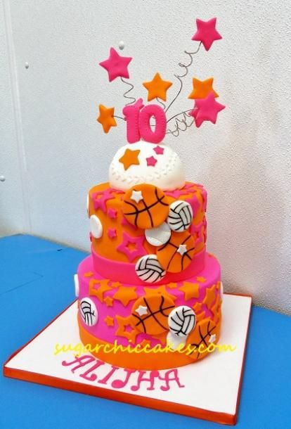 Sports theme for a girl Sugar Chic Cakes Baking Pinterest
