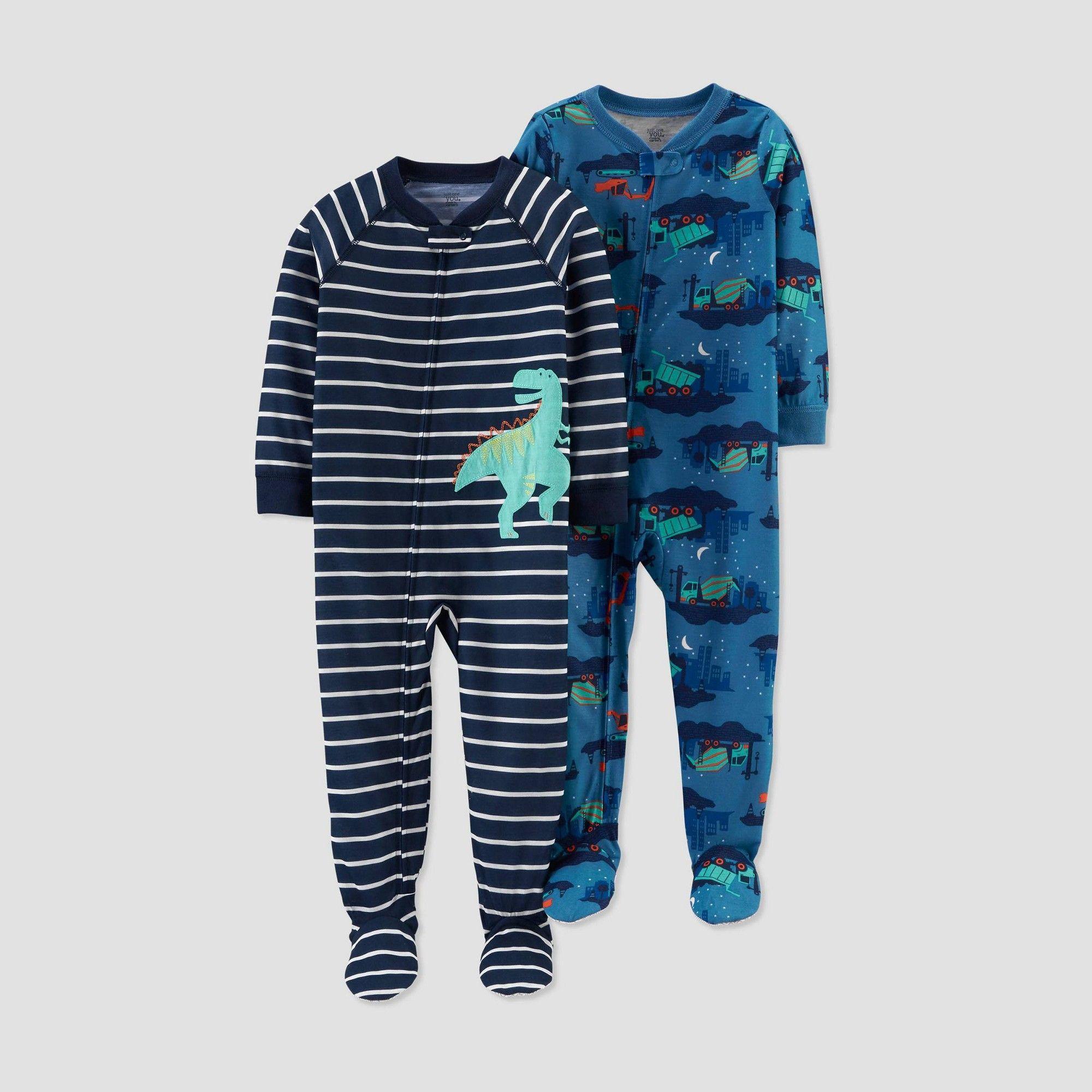 Carter/'s Boy/'s Plush Fleece Dinosaur Dino Footed Pajama Sleeper Size 4T