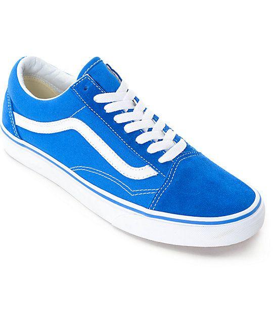 f501444e3e4f9a Vans Old Skool Imperial Blue   White Skate Shoes