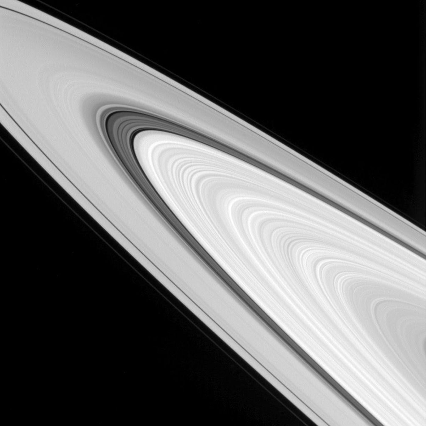 Cassini spacecraft took this incredible close-up of Saturn's rings from a distance of about 283,000 miles (456,000 kilometers) on Sept. 24, 2016.