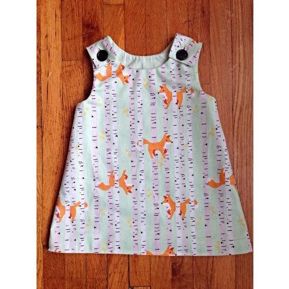 Fox in the Woods Reversable Toddler Jumper by mplsmomma on Etsy