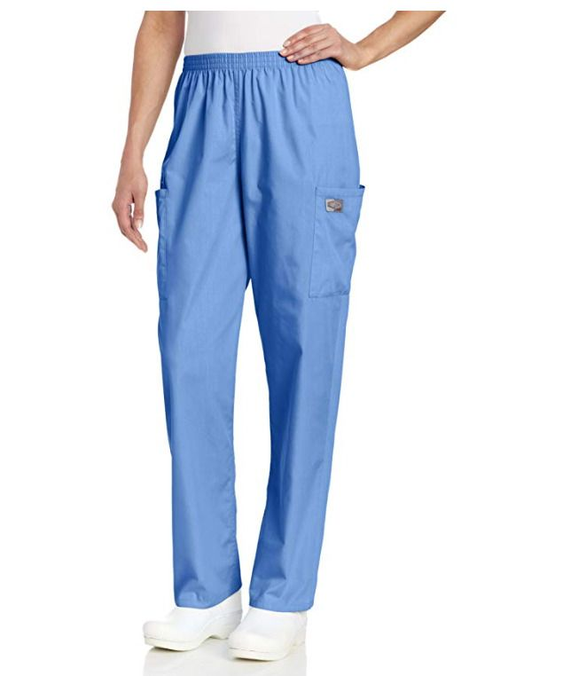 c0246951b72 eBay #Sponsored ScrubZone by Landau Women's Full Elastic Waist Cargo Scrub  Pant Light Blue 83221