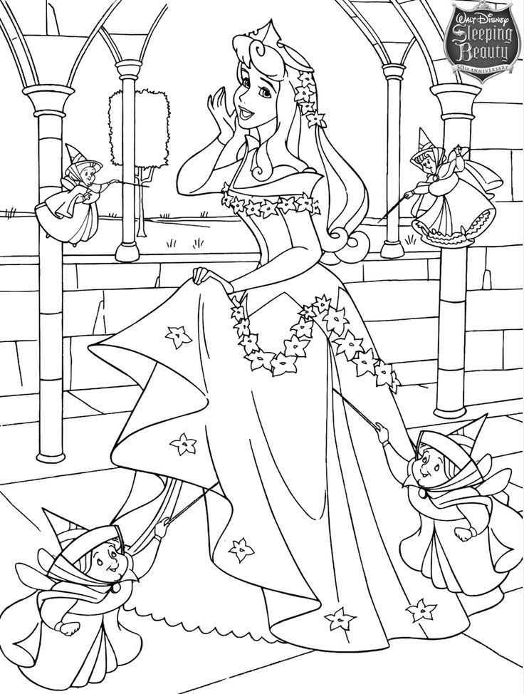 La Belle au Bois Dormant de Disney | Coloriage disney, Coloriage