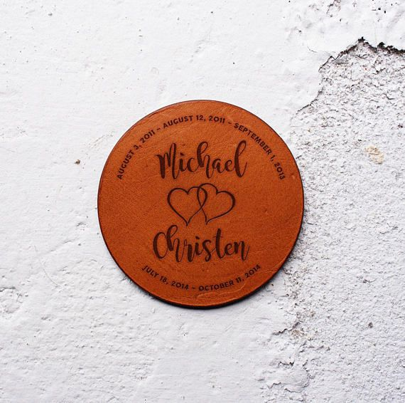 Leather Wedding Anniversary Gift Ideas: Personalise It Leather Anniversary Gift 3rd Year