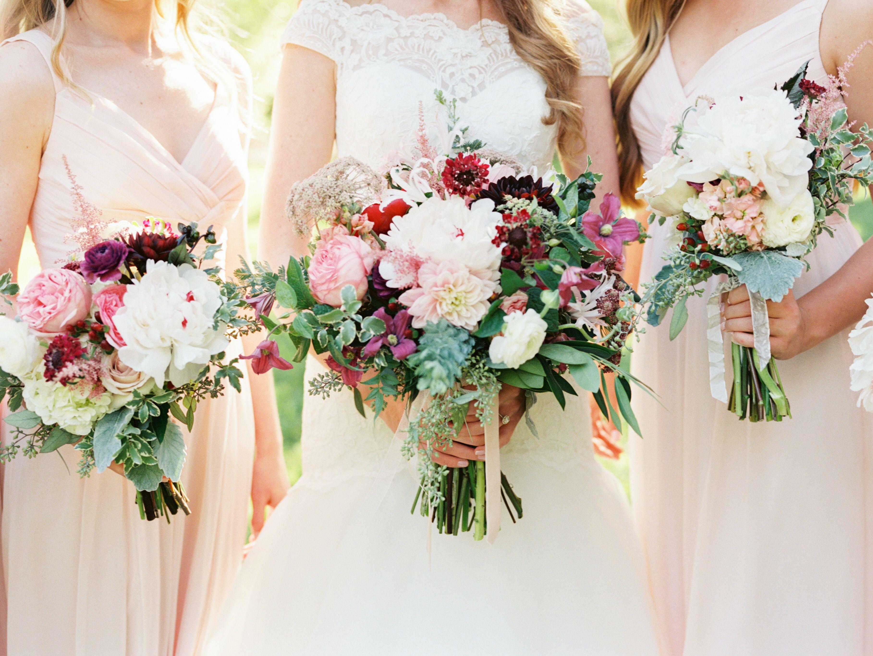 Romantic + Lush Texas Wedding Burgundy, blush wedding