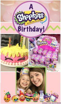 A Shopkins Birthday Party - With free invitation printable #shopkins