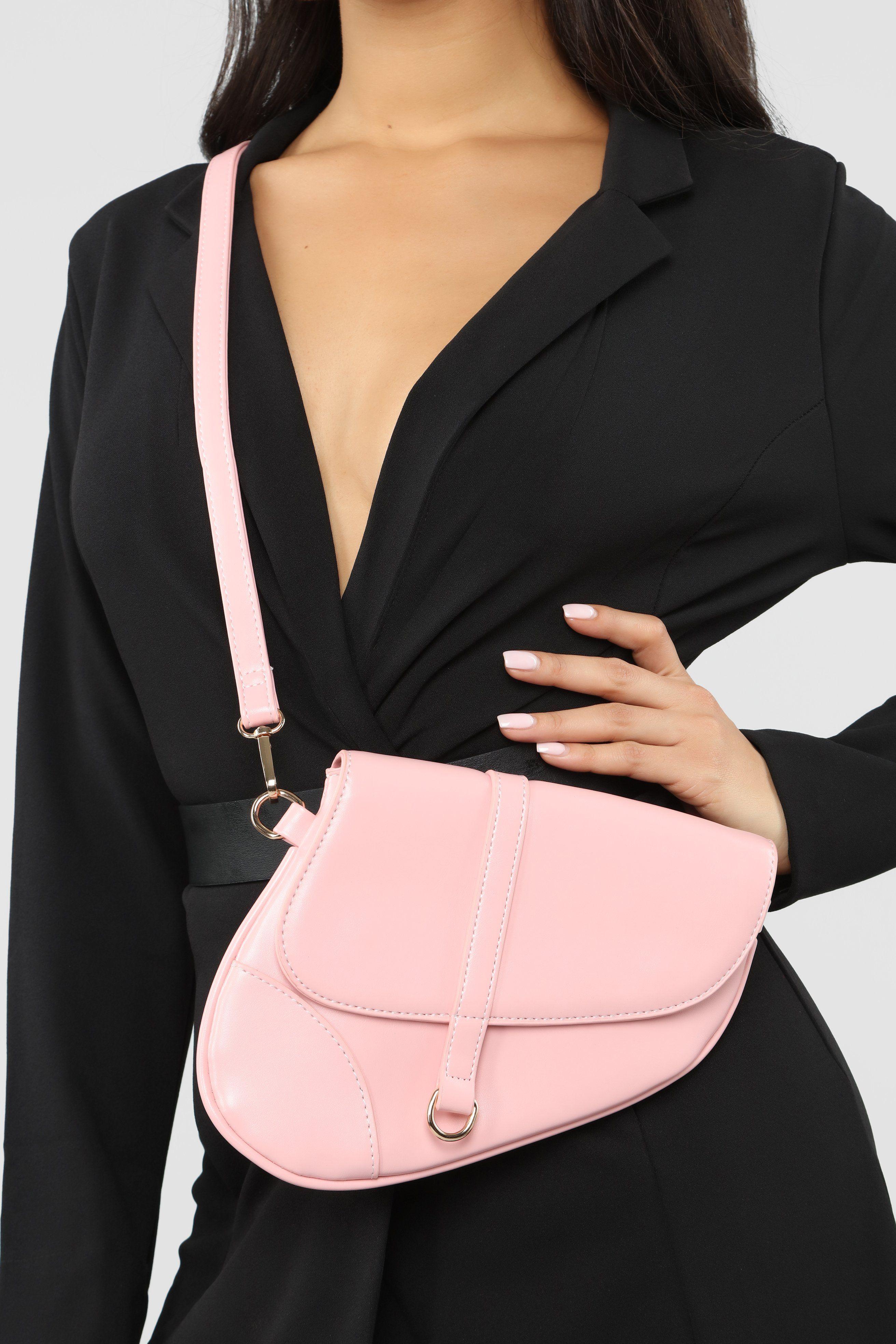 Saddle Up Crossbody Light Pink Fashion nova models