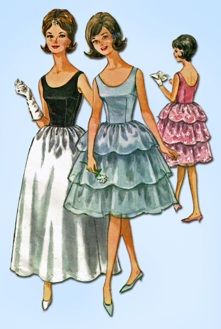 1960s Vintage McCalls Sewing Pattern 6577 Teen Misses\' Prom Dress ...